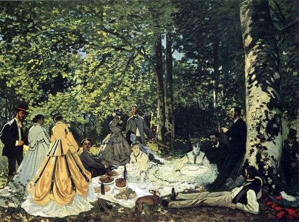 野餐在草地上,Chailly   Claude Monet