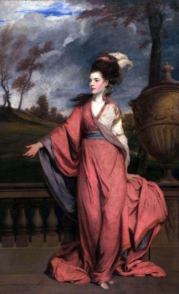简的肖像,伯爵夫人哈灵顿   雷诺兹约书亚