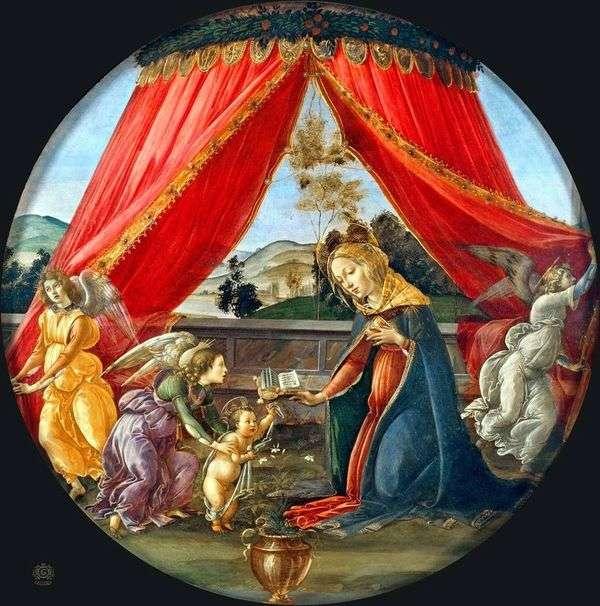 麦当娜在树冠下(Madonna del Padillone)   桑德罗波提切利