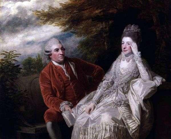 大卫加里克和伊娃玛丽亚加里克的肖像   雷诺兹约书亚