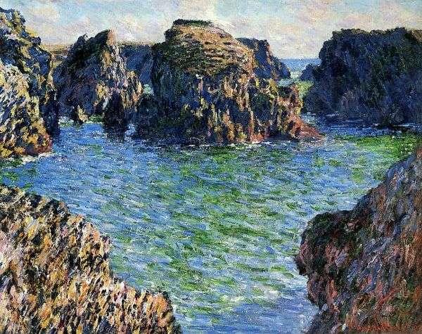 Port Gulfar。Belle Ile   Claude Monet