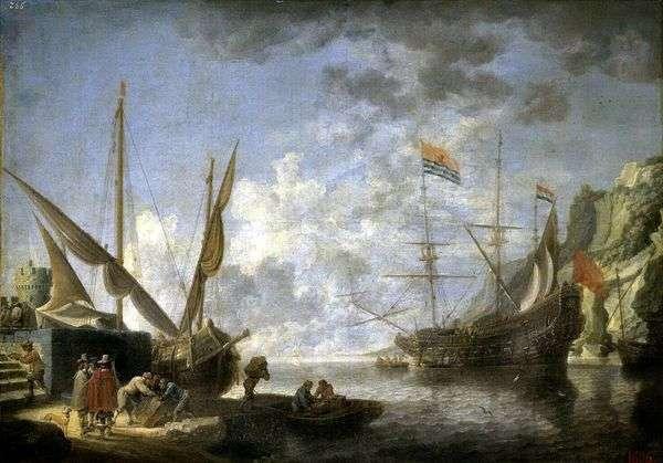 海滨港口   大卫Teniers