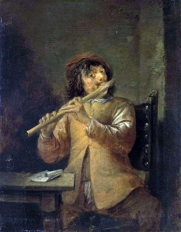 长笛演奏家   大卫 特尼尔斯