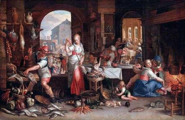 厨房场景   约阿希姆 艾特瓦尔