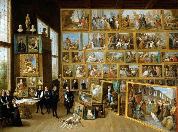 奥地利大公Leopold Wilhelm在布鲁塞尔的画廊   David Teniers