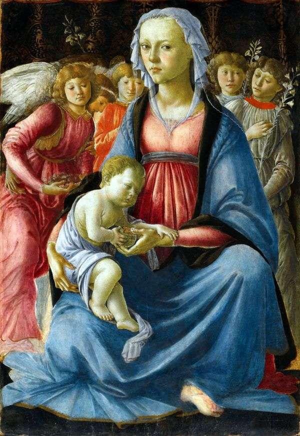 麦当娜和五个天使的孩子   桑德罗波提切利