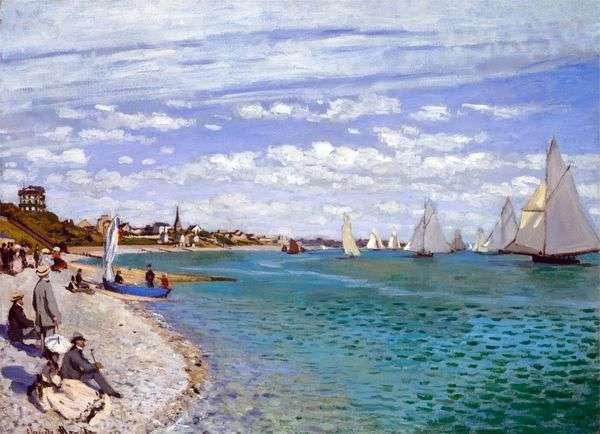 帆船在Saint Adress   Claude Monet