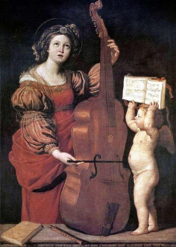 MUSICING ST。塞西莉亚与天使   Domenichino Dzampieri