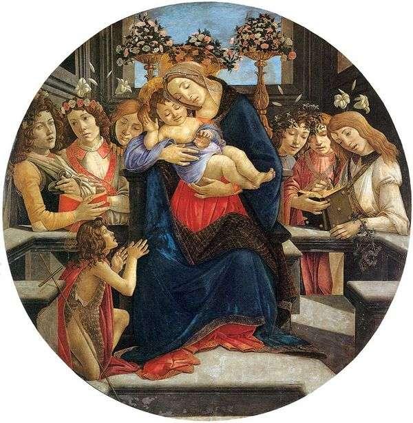 麦当娜和儿童,天使和圣施洗约翰   桑德罗波提切利