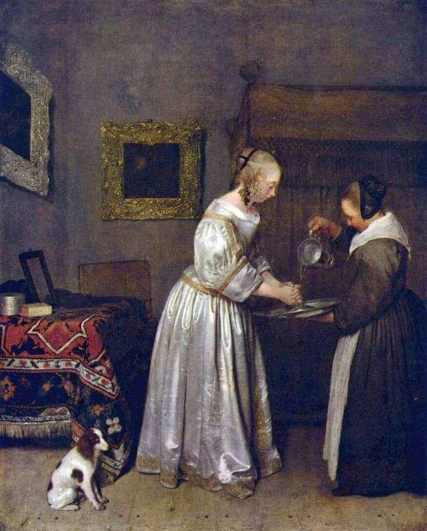 女人洗手   杰拉德Terborch