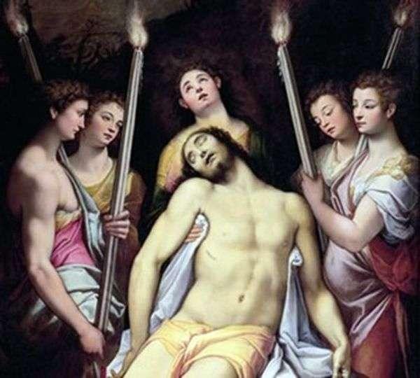 天使哀悼基督   费德里科祖卡里