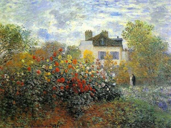 Argenteuil(Gergin)的花园   Claude Monet