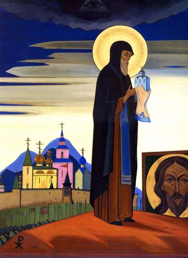 Radonezh的圣Sergius   Nicholas Roerich