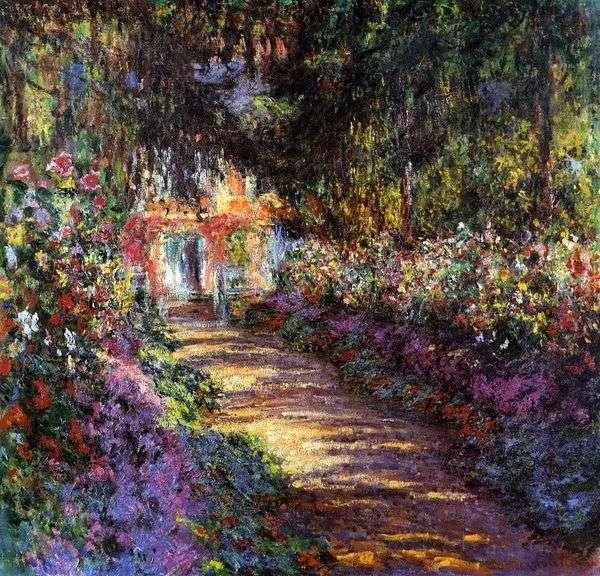 盛开的花园   克劳德莫奈