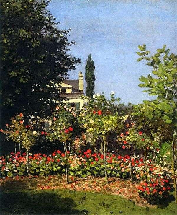 绽放的庭院在圣地址   克劳德 莫奈