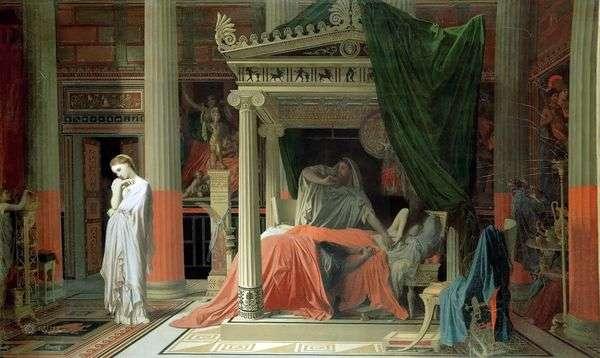 Antiochus和Stratonica   Jean Auguste Dominique Ingres