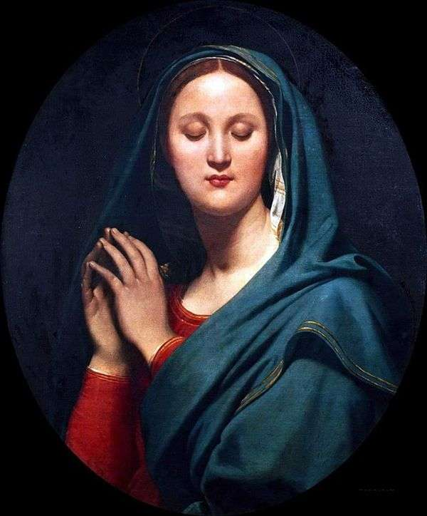 蓝色面纱中的处女   Jean Auguste Dominique Ingres
