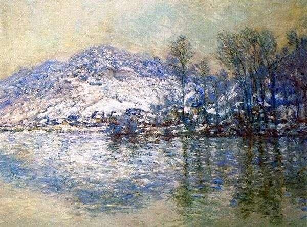 塞纳河,白雪覆盖的Port Ville   Claude Monet