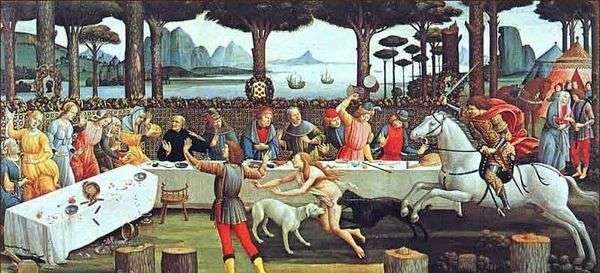 Nokla BoccaccioNastajo degli Onesti第三集   Sandro Botticelli