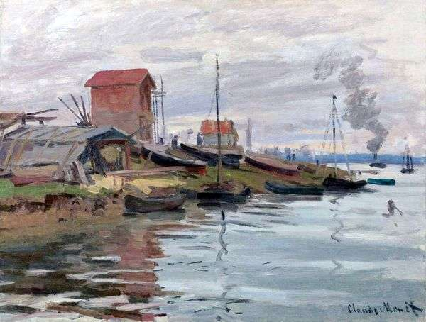 Seine,Petit Genevilliers   Claude Monet
