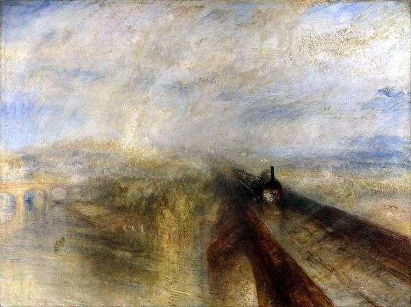 雨,蒸汽和速度。大西部铁路   威廉特纳