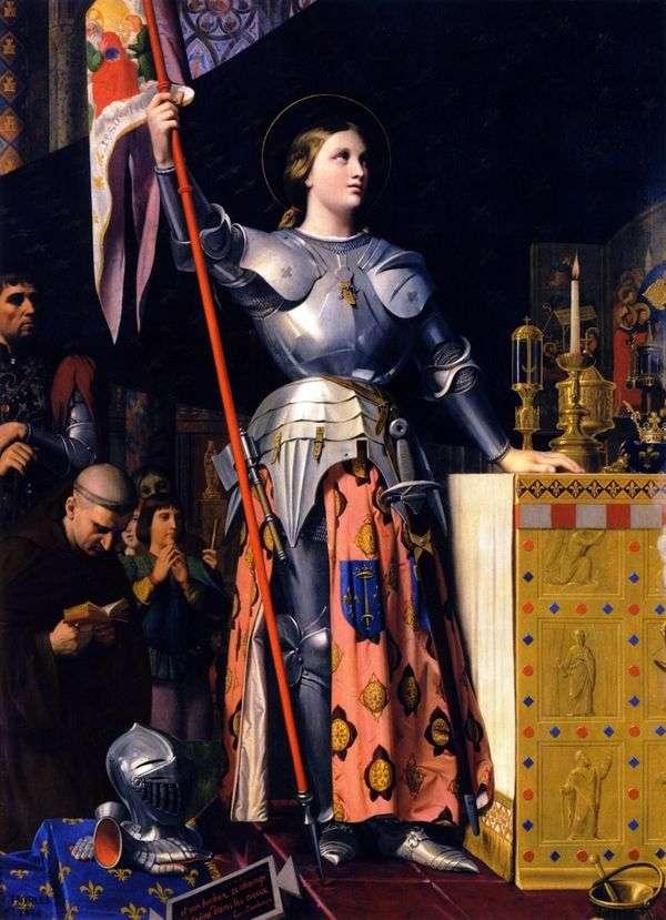 Jeanne dArc在查理七世加冕典礼上   Jean Auguste Dominique Ingres