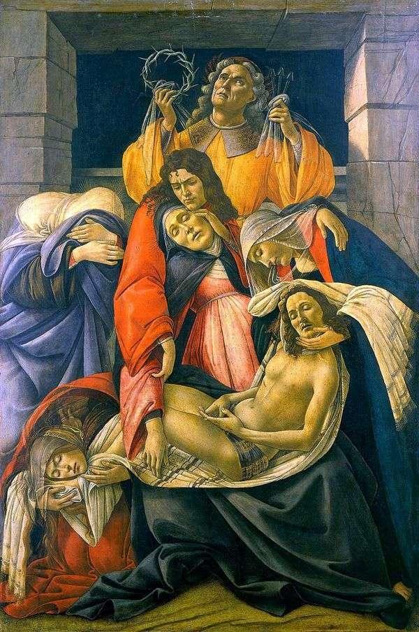 基督的哀悼   桑德罗波提切利