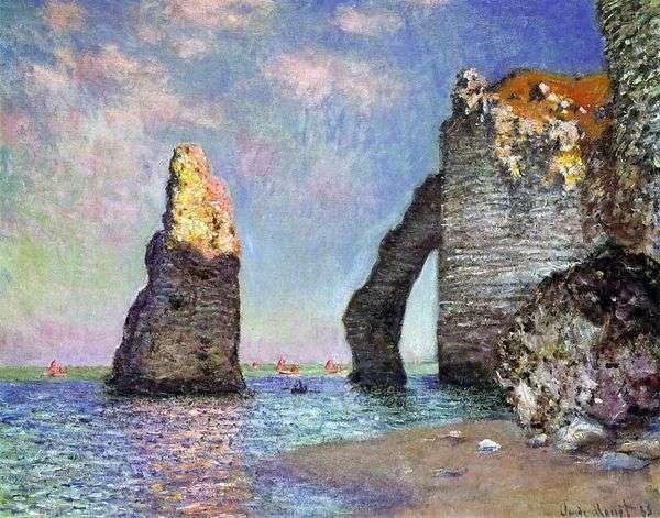 Aiguille和Port dAval   Claude Monet
