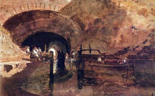 运河在利兹附近的隧道   威廉特纳