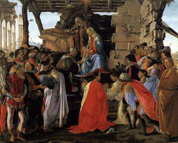 对贤士的崇拜。祭坛Zanobi   桑德罗波提切利
