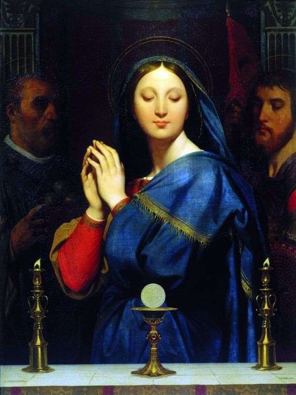 圣餐前的麦当娜   让 奥古斯特 多米尼克 安格尔