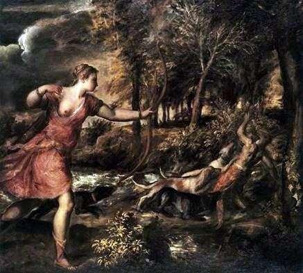 戴安娜的狩猎   提香Vecellio