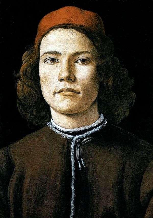 一个年轻人的画象   桑德罗Botticelli