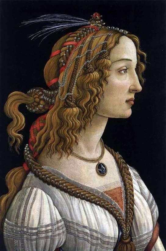 一个少妇的画象   桑德罗Botticelli