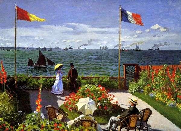Sainte Adres露台   Claude Monet
