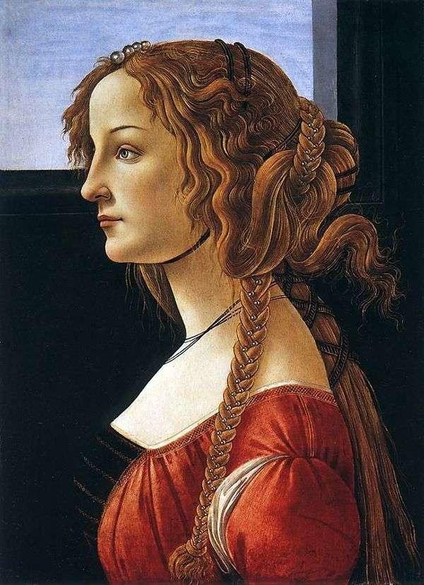 Simonetta Vespucci画像   桑德罗波提切利