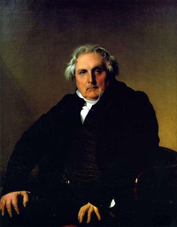 Louis Francois Bertin的肖像   Jean Auguste Dominique Ingres