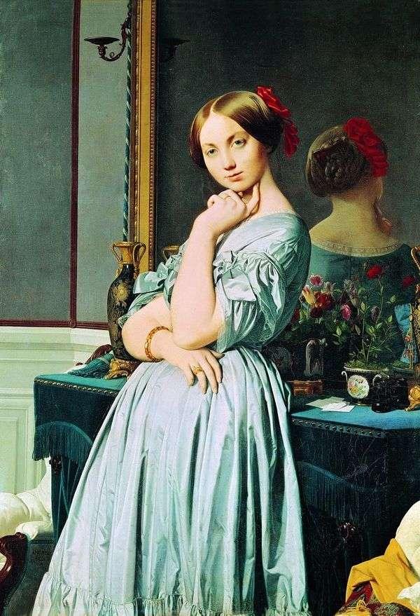 Louise dOssonville的肖像   Jean Auguste Dominique Ingres
