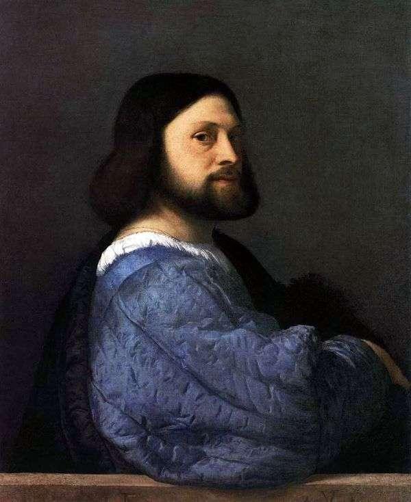 一个人(Ariosto)的画象   提香Vechelio