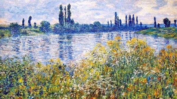 塞纳河畔的鲜花   克劳德 莫奈