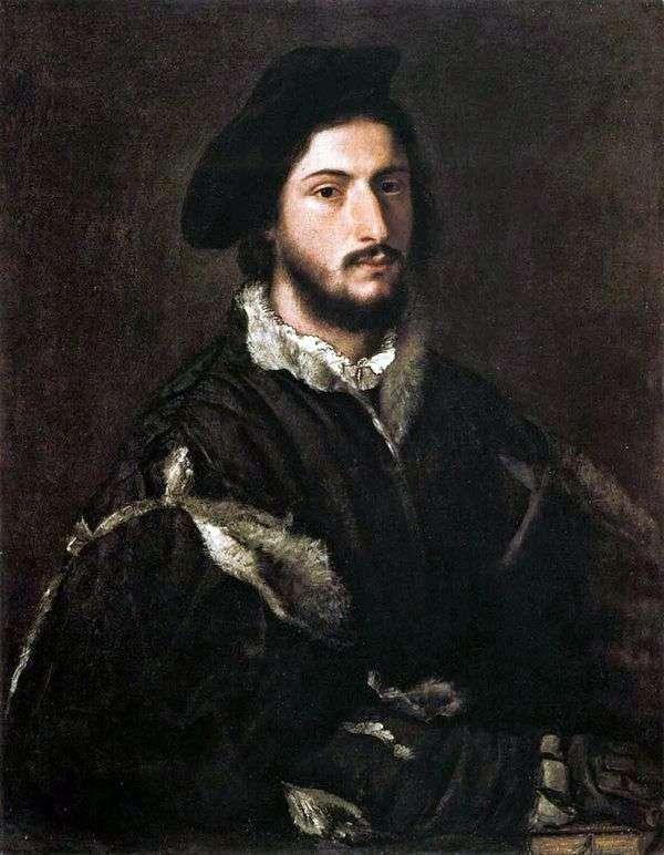 Vicenzo Mosti的肖像   提香Vecellio