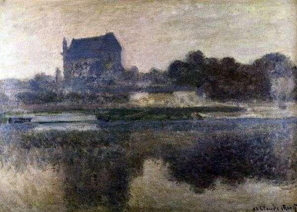 雾中的教堂   克劳德莫奈
