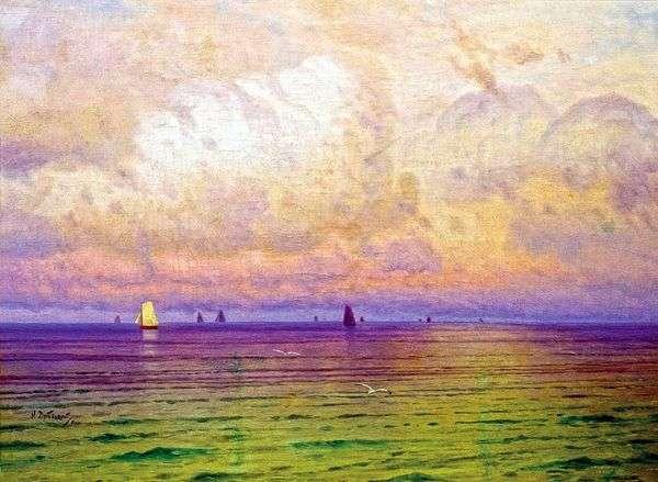 大海 帆船   尼古拉 杜博夫斯基