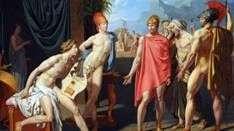 在阿基里斯帐篷中的阿伽门农大使   让 奥古斯特 多米尼克 安格尔