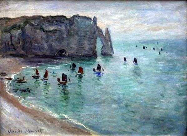 埃特勒塔,Port DAval   Claude Monet