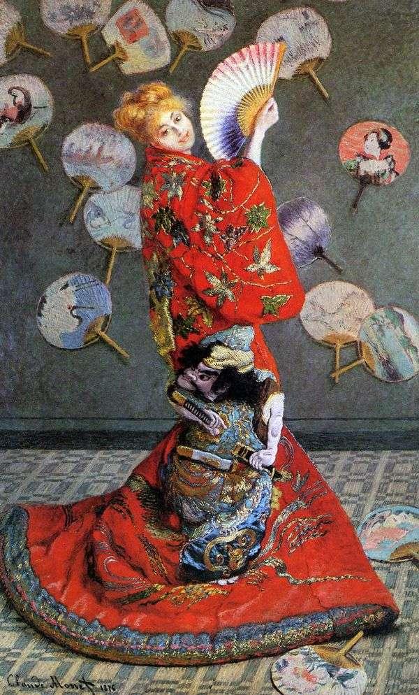 日本女人(卡米拉莫奈在日本服装)   克劳德莫奈