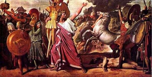 Romulus   Acron的获胜者   Jean Auguste Dominique Ingres