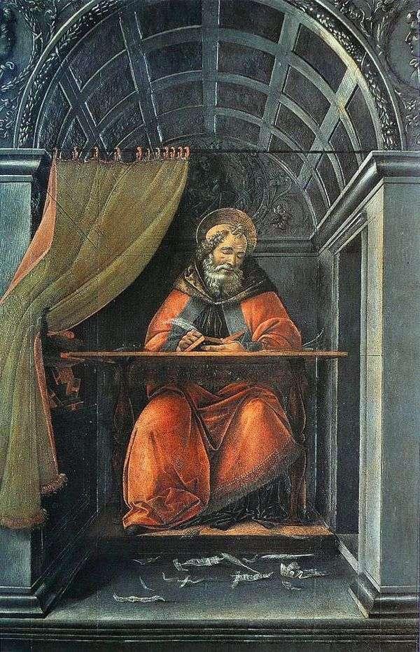 圣奥古斯丁,写在他的牢房里   桑德罗波提切利