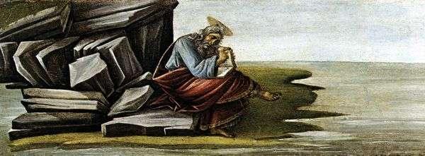 圣约翰神学家,写了关于帕特莫斯的启示录   桑德罗波提切利