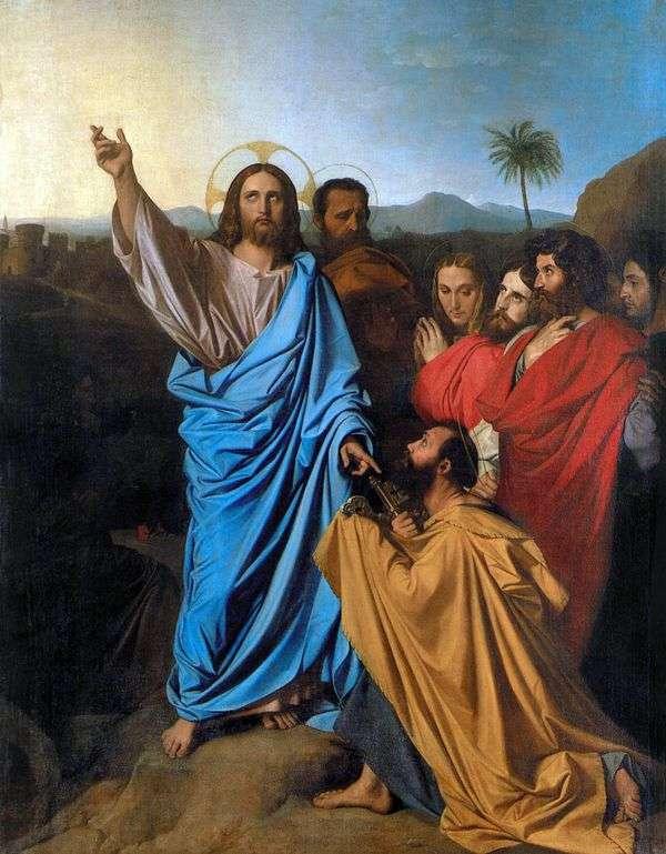 基督传达sv。彼得是天堂的钥匙   让 奥古斯特 多米尼克 安格尔